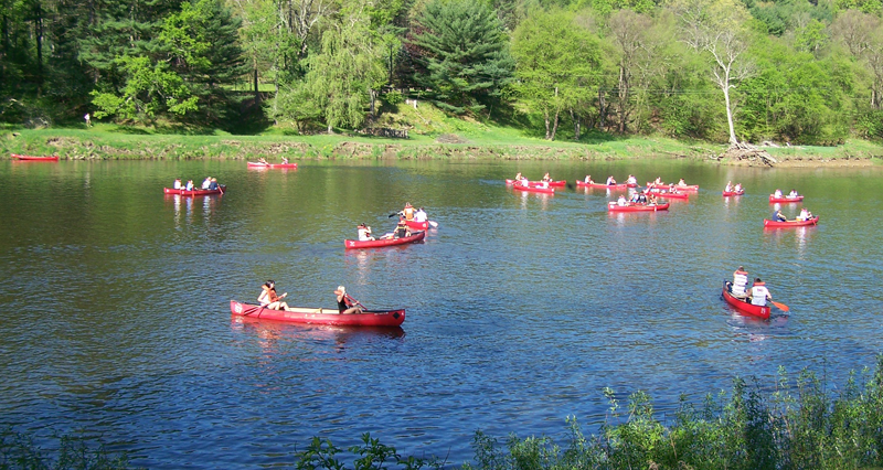 Cook Forest Red Canoe Flotilla